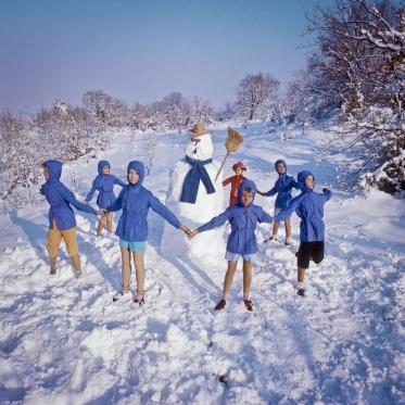 1978Summer CampDay children's dance.1978Les grandes vacancesRonde de jour.Bernard Faucon / Agence VU