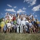 1978 Summer Camp Family portrait.  1978 Les grandes vacances Photo de famile.  Bernard Faucon / Agence VU