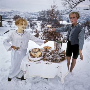 1978 Summer Camp Snack.  1978 Les grandes vacances Collation.  Bernard Faucon / Agence VU
