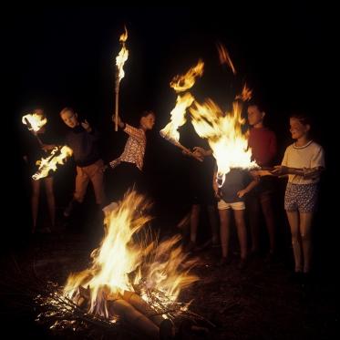 1977 Summer Camp The Torchs.  1977 Les grandes vacances Les Torches.  Bernard Faucon / Agence VU