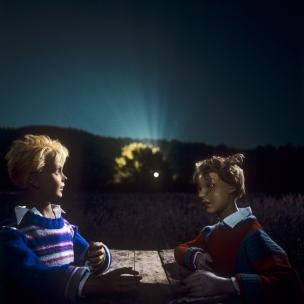 1980 Summer Camp The secret.  1980 Les grandes vacances Le secret.  Bernard Faucon / Agence VU