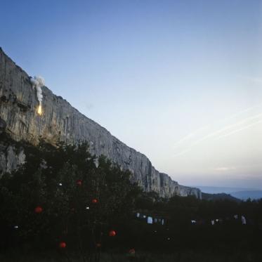 """France, 1981/1984""""Evolution probable du temps"""" (The probable evolution of time), The cliffFrance, 1981/1984""""Evolution probable du temps"""", La falaise  Bernard Faucon / Agence VU"""