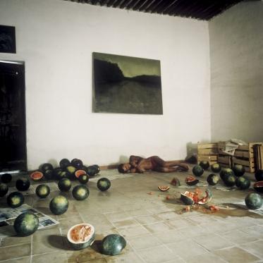 """France, 1981/1984""""Evolution probable du temps"""" (The probable evolution of time), the watermelonsFrance, 1981/1984""""Evolution probable du temps"""", Les pastËques  Bernard Faucon / Agence VU"""