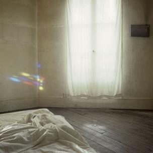 "France, 1985The BedroomsSerie ""The Rooms of Love""The 13th Bedroom of Love : the stained glass.France, 1985Les chambresSÈrie ""Les chambres d'amour""La TreiziËme Chambre d'amour : le vitrailBernard Faucon / Agence VU"