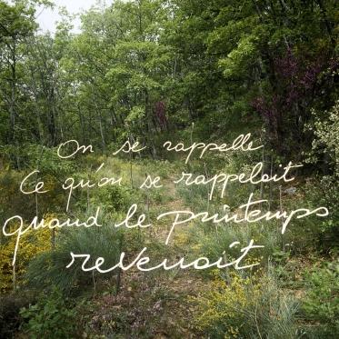 """""""Les Ecritures"""" (Writings), 1991/1992We remember what we remembered when spring was coming back.""""Les Ecritures"""", 1991/1992On se rappelle ce qu'on se rappelait quand le printemps revenait.Bernard Faucon / Agence VU"""