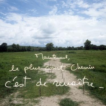 """""""Les Ecritures"""" (Writings), 1991/1992Now, the shortest way is to resuscitate.""""Les Ecritures"""", 1991/1992Maintenant, le plus court chemin c'est de renaitre.Bernard Faucon / Agence VU"""