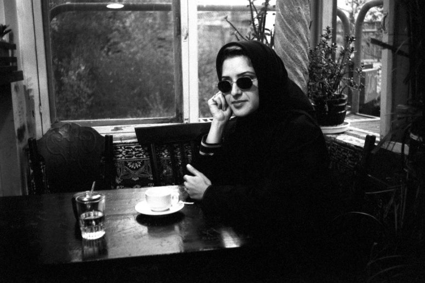 Iran, Téhéran, novembre 1997 - Au  petit café théâtre.