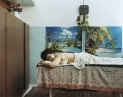 © RIP HOPKINS / AGENCE VUHOME AND AWAYOUZBEKISTAN, 200214/08/02Emiliya Azimova Karimovna waiting in Tashkent's Uzbekistan Sport and Health Centre massage parlor. She is 54 years old. She is head of staff at the Sports Centre. Her mother is German from the Russian Volga region sent to Kazakhstan by Stalin in 1941 and her father is Uzbek. She does not want to leave.N°10650