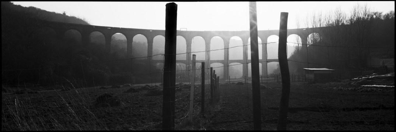 France, Saint-Brieuc, Brittany, January 1991 - Viaduct
