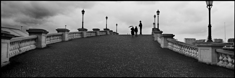 Belgium, Antwerp, january 1991 - Rain on the Antwerp quays.