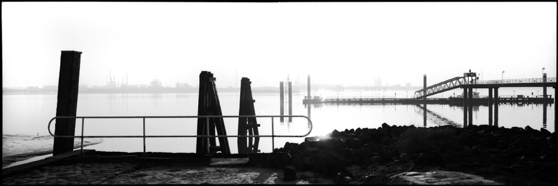 Belgium, Antwerp, December 1992 - Stockade, port complex in Antwerp.