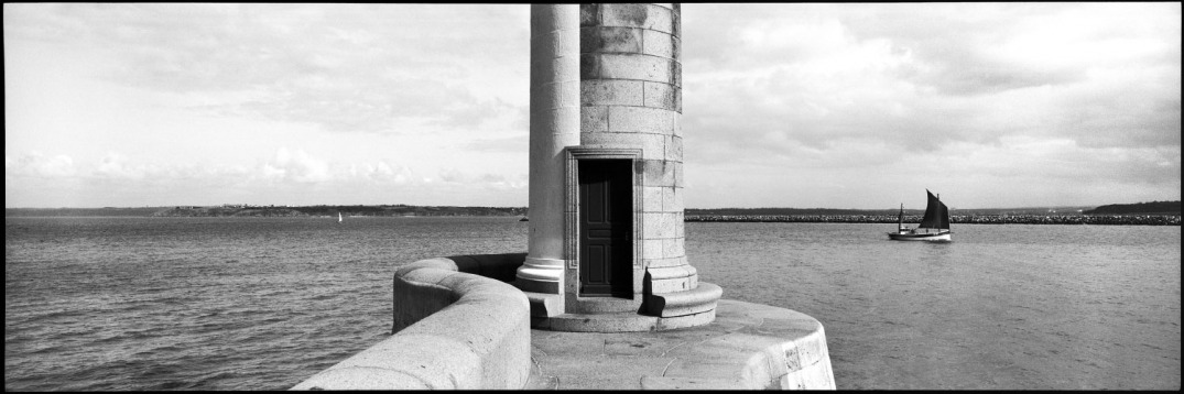 France, Saint-Brieuc, Brittany, May 1992 - Lighthouse.