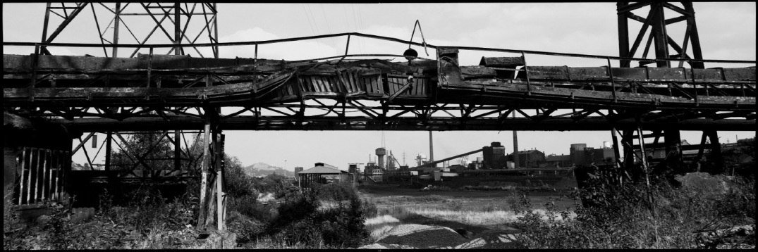 Belgium, Charleroi, July 1993 - The Factory; steel and coal.