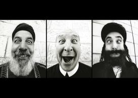 "200628 Millimetres, Face 2 Face.""Holy Triptich"": Cheikh Aziz, Brother Jack and Reb Eliyahu.200628 Millimetres, Face 2 Face.""Triptyque sacré"": Cheikh Aziz, Frère Jack et le Rabbin Eliyahu.JR"
