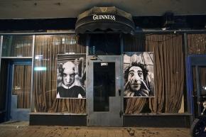 Israel, Tel Aviv, 7 March 200728 Millimetres, Face 2 Face.Portraits of actors: Ronen from Tel Aviv (left) and Ayman from Bethlehem (right).Israel, Tel Aviv, 7 Mars 200728 Millimetres, Face 2 Face.Portraits d'acteurs: Ronen de Tel Aviv (à gauche) et Ayman de Bethléem (à droite).JR