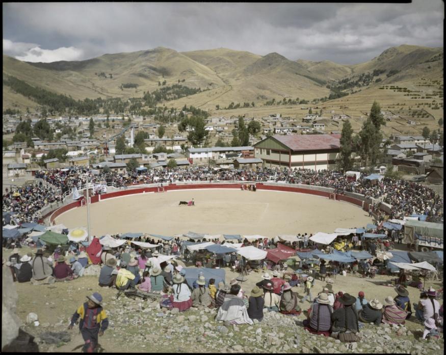 "Peru, Chumbivilcas, 2009 - From the book ""Peru"" of Martin Chambi and Juan Manuel Castro Prieto. Bullring of Santo Tomás."