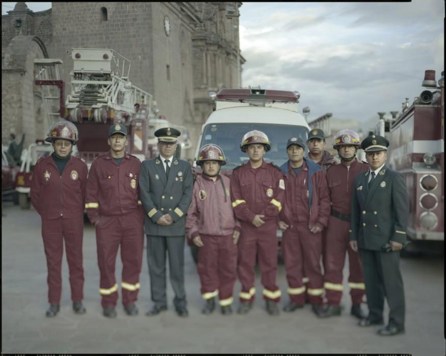 "Peru, Cuzco. 2009 - From the book ""Peru"" of Martin Chambi and Juan Manuel Castro Prieto. Fire brigade of Cuzco."