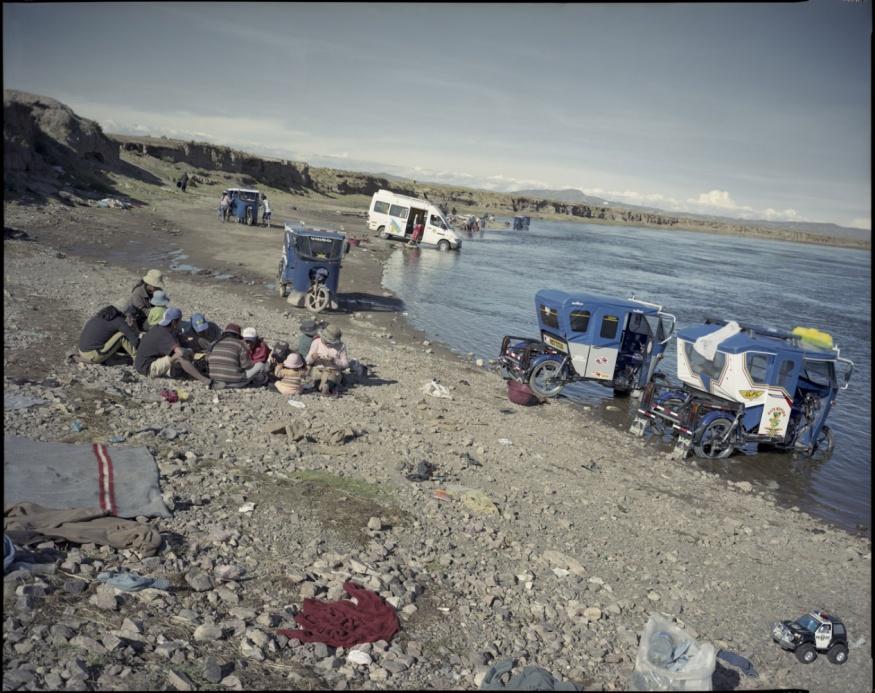 """Peru, Juliaca, 2009 - From the book """"Peru"""" of Martin Chambi and Juan Manuel Castro Prieto. Car wash."""