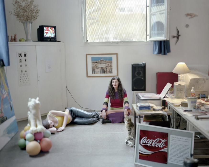 France, Sète, September - November 2010. Elisa Fantozzi in her studio.