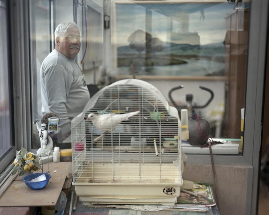 "France, Sète, September - November 2010. Michel Cellier, retired, former person in charge of the association ""l'Amicale des Jouteurs de Sète"", who lives in la Pointe Courte district, ancient fishermen district."