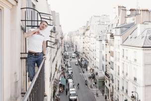 """France, Paris, 16 March 2011Portrait of Antoine de Caunes, French actor and film director.""""It's very precious, it's not just an attitude"""".France, Paris, 16 mars 2011Portrait d'Antoine de Caunes, réalisateur et acteur français.""""C'est très précieux, ce n'est pas juste une posture"""".Rip Hopkins / Agence Vu / Médecins sans frontières"""