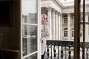 """France, Paris, 18 March 2011Portrait of Jérôme Garçin, French writer.""""It is a question of me, in relation to me.""""France, Paris, 18 mars 2011Portrait de Jérôme Garçin, écrivain français.""""C'est une question de moi, par rapport à moi"""".Rip Hopkins / Agence Vu / Médecins sans frontières"""