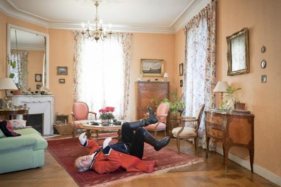 """France, Maison Laffitte, 23 March 2012From the book """"Chevaleresque"""".Michel Vincent, W, 70-75, 177 cm, 95 kg.France, Maison Laffitte, 23 mars 2012Issue du livre """"Chevaleresque"""".Michel Vincent, W, 70-75 ans, 177 cm, 95 kg.Rip Hopkins / Agence VU"""