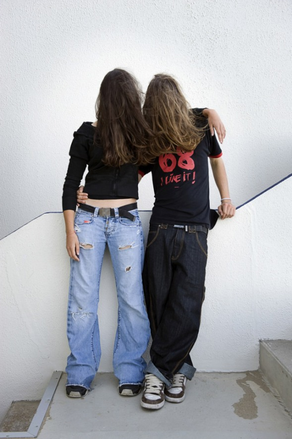 France, 12 September 2009 - What would be a faceless world ? Teenage couple.