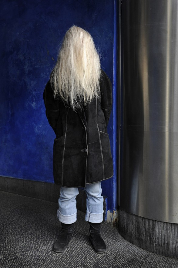 France,  05 March 2013 - What would be a faceless world ? White-haired woman.