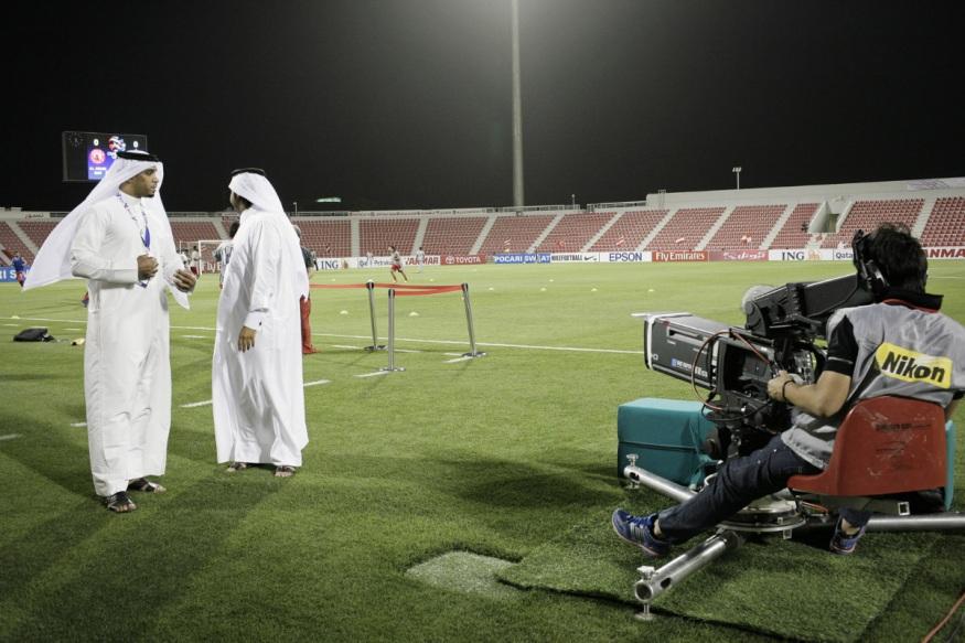 Qatar, Doha, 17 April 2012 - Al-Arabi Stadium.Match of the Asian Club Championship. Al-Arabi vs Pakhtakorr Tashkent (Uzbeck team)