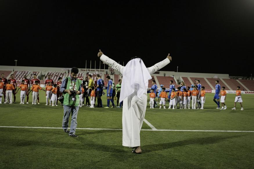 Qatar, Doha, 17 April 2012 - Al-Arabi Stadium.Match of the Asian Club Championship. Al-Arabi vs Pakhtakorr Tashkent (Uzbeck team).