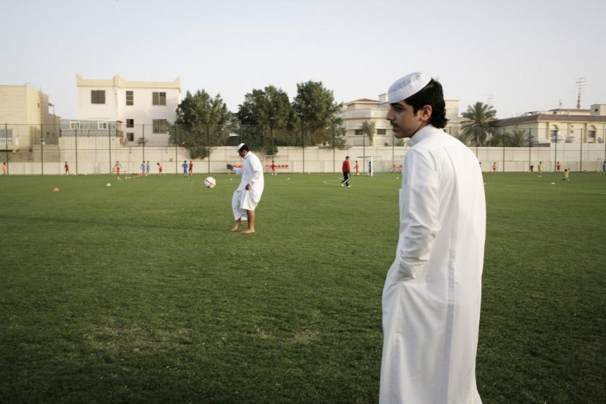 Qatar, Doha, 17 April 2012 - Al-Arabi soccer club's team.