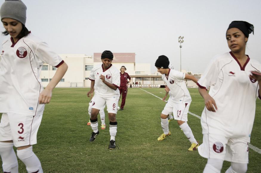 Qatar, Doha, 16 April 2012 - Helena Costa, Women Football National Team's coach, before a match.