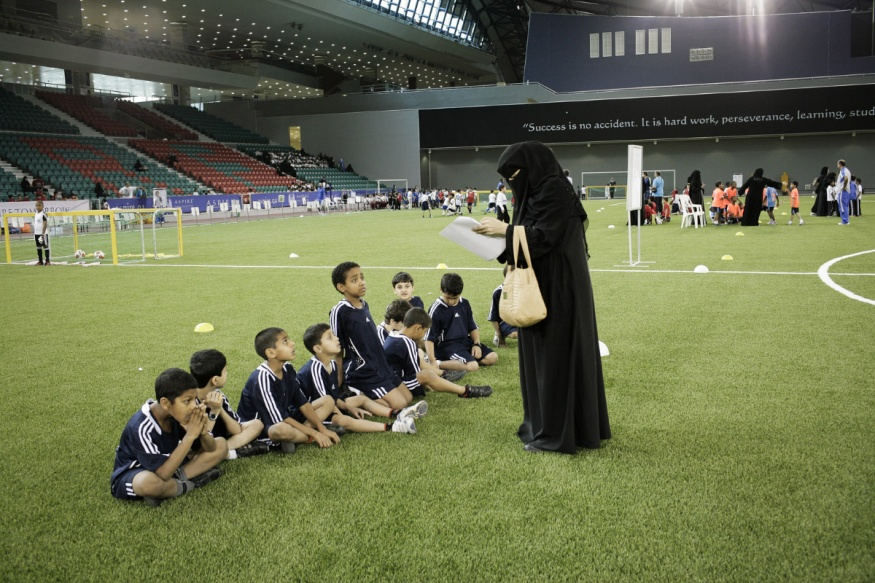 Qatar, Doha, 18 April 2012 - The Aspire Academy has Football Talent Centers throughout Doha that cater for boys from 6 – 11 years of age.