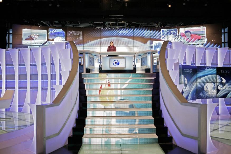 Qatar, Doha, 22 April 2012 - Al Jazeera new sport's studio.