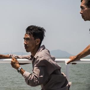 Vietnam, Min Chau, 19 April 2015Men on a boat.Vietnam, Min Chau, 19 avril 2015Hommes sur un bateau.Franck Ferville / Agence VU