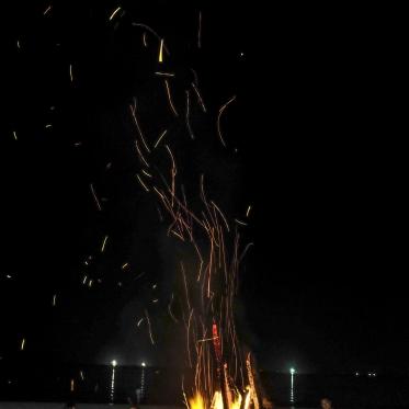 Vietnam, Min Chau, 28 April 2015Bonfire on the beachVietnam, Min Chau, 28 avril 2015feu de joie sur la plageFranck Ferville / Agence VU