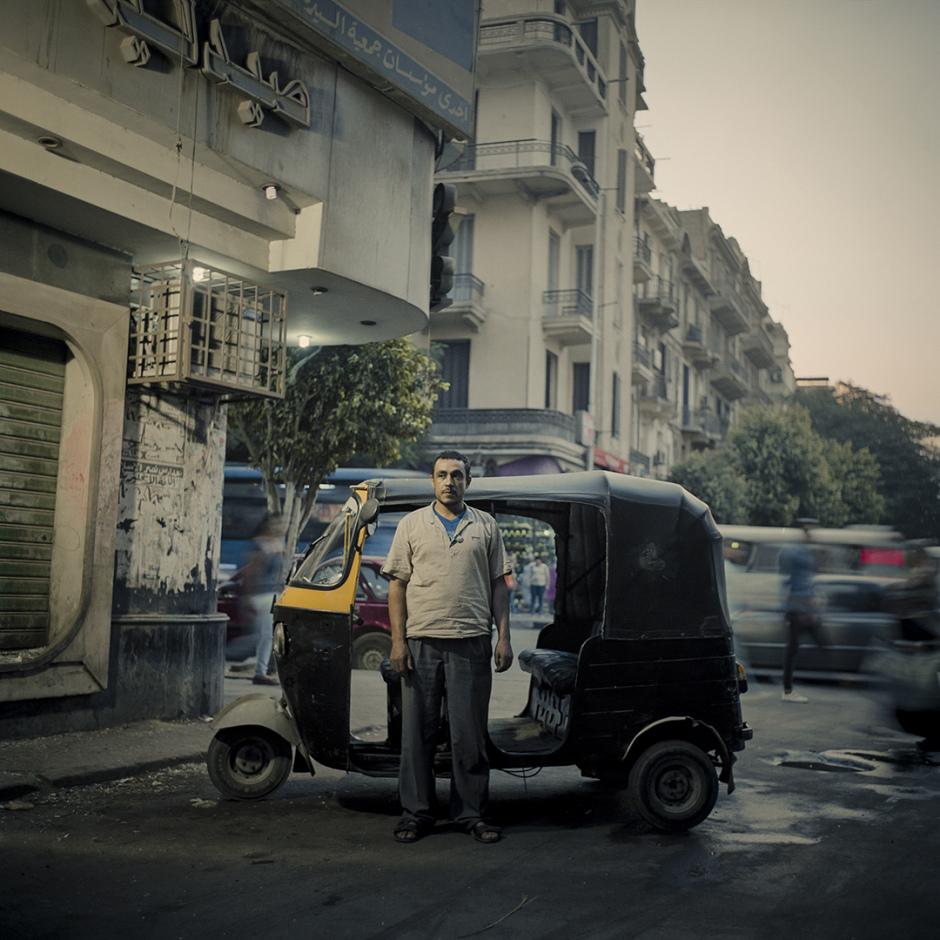 Egypt, Cairo, November 2016Rickshaw drivers of Cairo.Egypte, Le Caire, novembre 2016Les conducteurs de tuk-tuk du Caire.Denis Dailleux / Agence VU