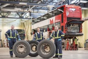 Canada, Ontario, Ottawa, 28 Feburary 2017OC Transport main garage.Canada, Ontario, Ottawa, 28 février 2017Garage principale de la compagnie OC Transport.Rip Hopkins / Agence VU / Ambassade de France au Canada
