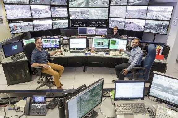 Canada, Ontario, Ottawa, 28 February 2017Traffic Control Centre.Canada, Ontario, Ottawa, 28 février 2017Centre de contrôle du trafic routier.Rip Hopkins / Agence VU / Ambassade de France au Canada