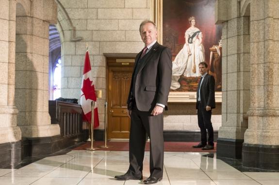Canada, Ontario, Ottawa, 02 March 2017Senator Serge Joyal, Canadian Parliament.Canada, Ontario, Ottawa, 02 mars 2017Le Sénateur Serge Joyal, au Parlement Canadien.Rip Hopkins / Agence VU / Ambassade de France au Canada