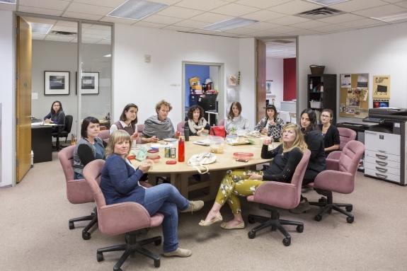Canada, Ontario, Ottawa, 11 October 2016 New Ottawa Art Gallery team.  Canada, Ontario, Ottawa, 11 octobre 2016 L'équipe de la New Ottawa Art Gallery.  Rip Hopkins / Agence VU / Ambassade de France au Canada