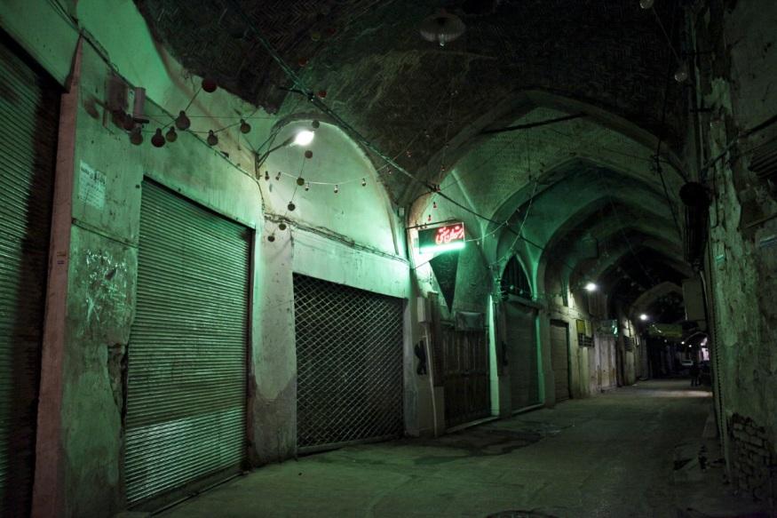 Iran, Isfahan, 07 November 2013 - Bazaar at night.