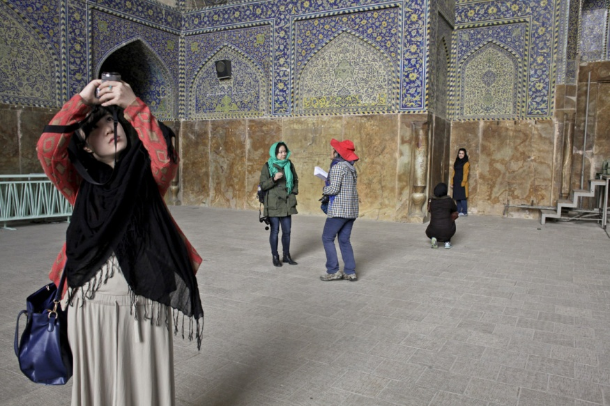 Iran, Isfahan, 17 November 2013 - Masjed e Eman (Masjed e shah) mosque.Tourists are back.