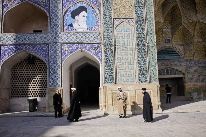 Iran, Isfahan, 30 December 2014 - In front of the oldest mosque, Masjed e Jomeh, built in the 11th century.