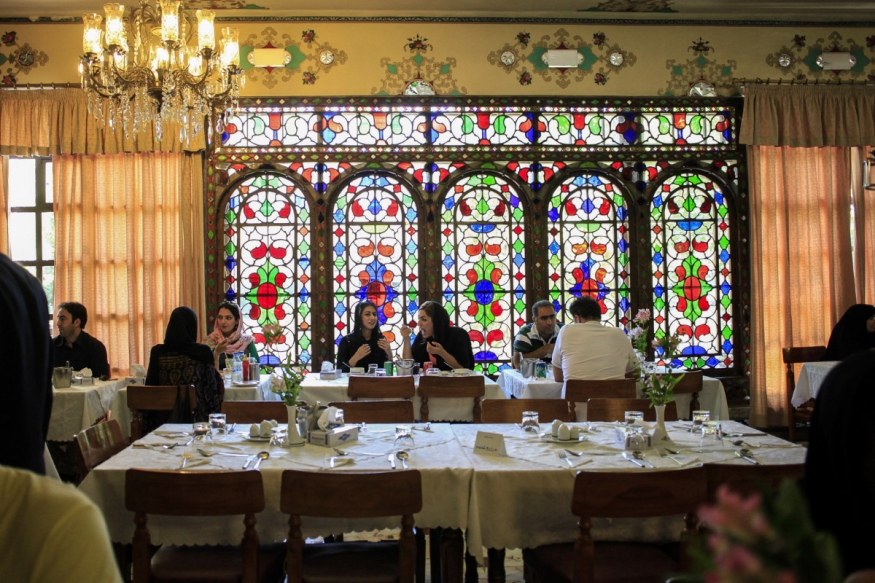 Iran, Isfahan, July 2015 - Sharzad restaurant, one of the best place in Isfahan for nice food.
