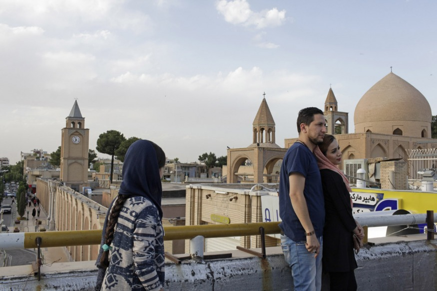 Iran, Isfahan, June 2nd 2016 - Djolfa quarter, Vank Cathedral, seen from the roofs.