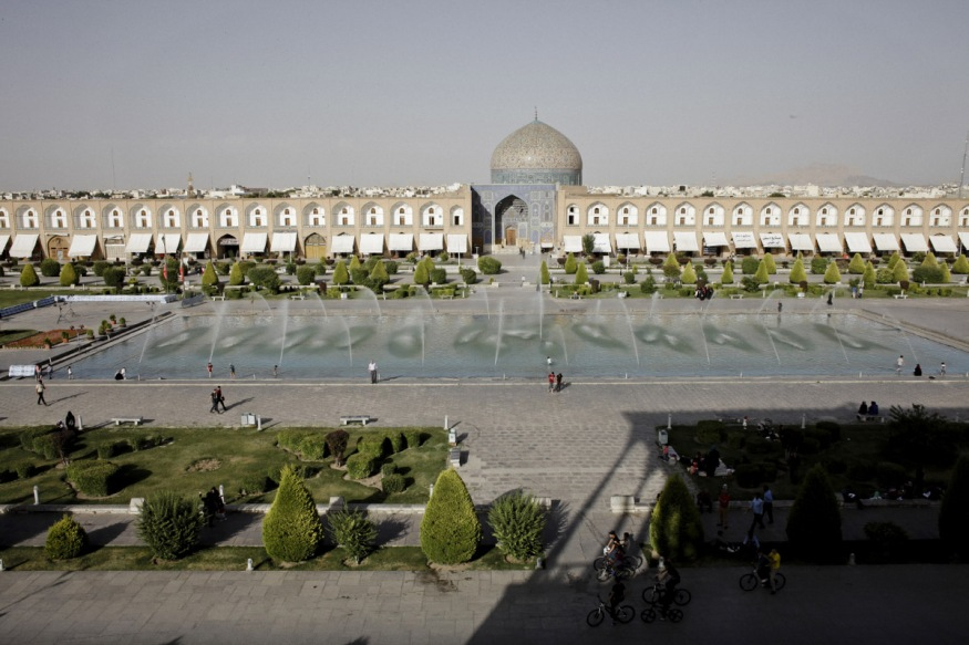 Iran, Isfahan, June 6th 2016 - Naghshe Jahan Square or Emam Square, view from Ali Ghapu Palace.