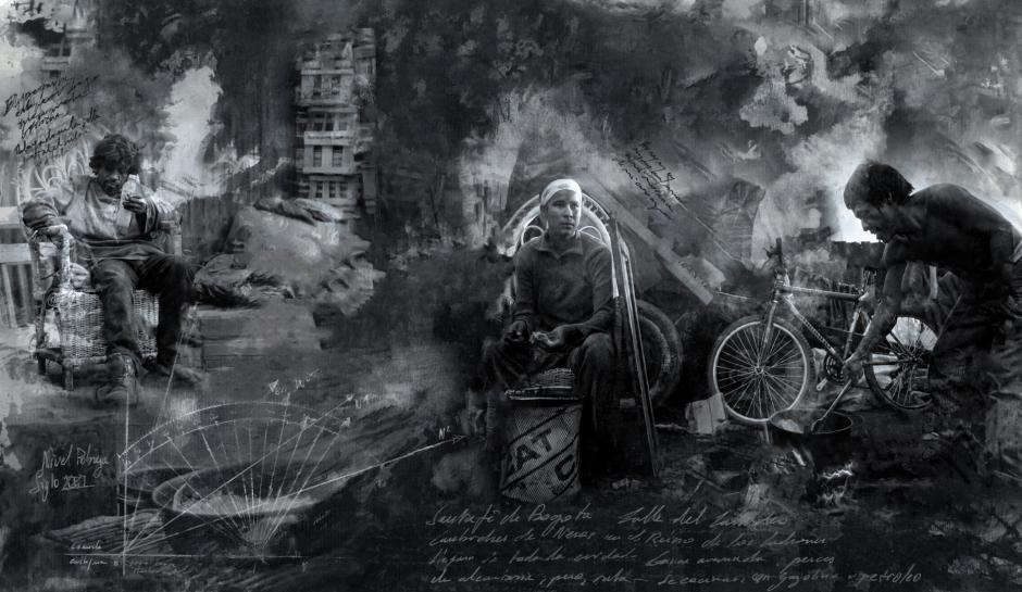 """Colombia, Bogota, 19 August 2016From the serie """"El Cartucho, The Kingdom of Thieves.""""Colombie, Bogota, 19 août 2016Issue de la série """"El Cartucho, le royaume des voleurs.""""Stanislas Guigui / Agence VU"""