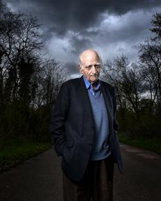 France, Vincennes, 11 avril 2016 Portrait de Michel Serres, French writer, philosopher, epistemologist and member of the French Academie.